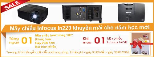 khuyến mãi máy chiếu Infocus In220