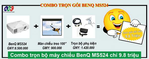 Sở hữu máy chiếu BenQ MS524 trọn bộ với giá ưu đãi