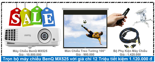 Trọn bộ máy chiếu BenQ MX525