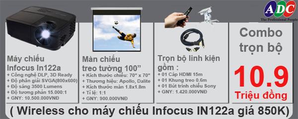 Sở hữu máy chiếu Infocus In 122a trọn bộ với giá ưu đãi