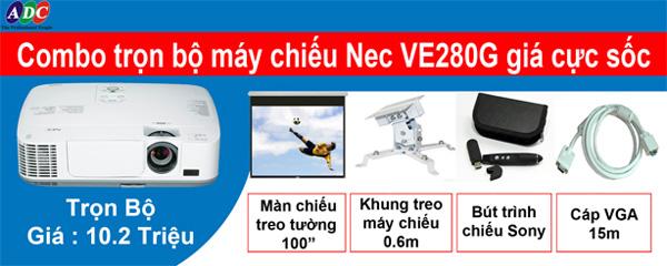 Sở hữu máy chiếu Nec NP-VE280G trọn bộ với giá ưu đãi