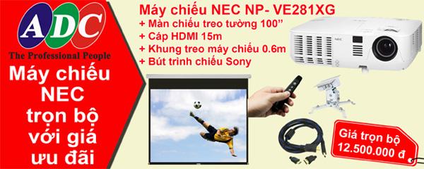 Sở hữu máy chiếu Nec NP-VE281XG trọn bộ với giá ưu đãi