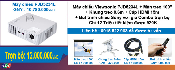 Sở hữu máy chiếu Viewsonic PJD5234L trọn bộ với giá ưu đãi